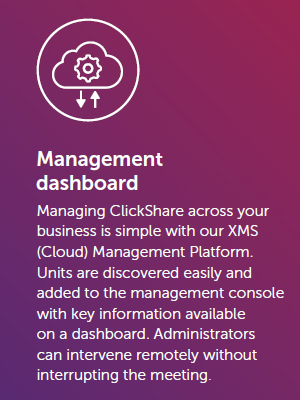 Barco ClickShare Conference Management Dashboard