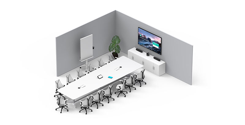 Logitech meeting room solutions for medium to large rooms