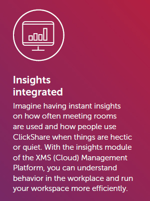 Barco ClickShare Conference Integrated Insights