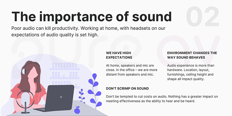 Tip 2: The importance of sound
